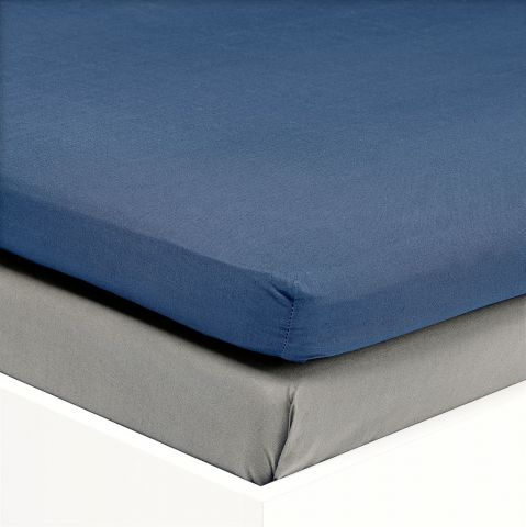 sateen Env S DBL 140x200x6/10 Kr. blue