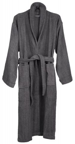 Bathrobe TIBRO S/M grey KRONBORG