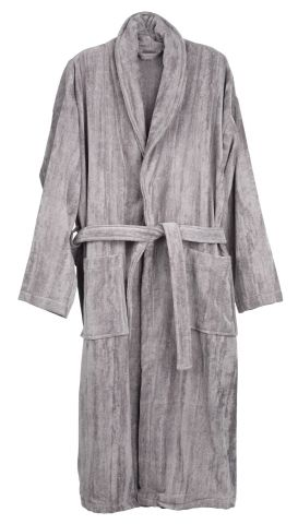 Bathrobe TIBRO L/XL grey KRONBORG