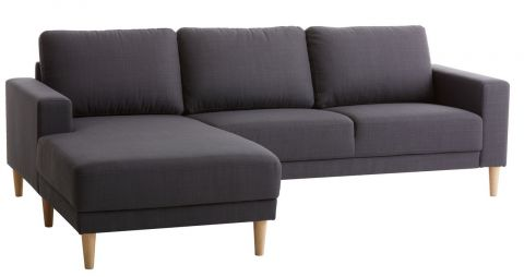 Sofa EGENSE chaise longue dark grey