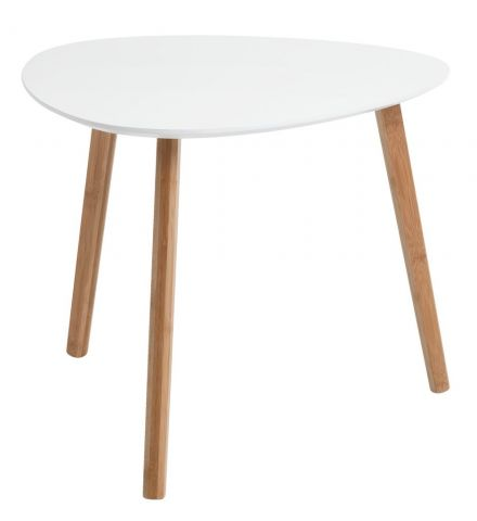 End table TAPS 55x55 white/bamboo