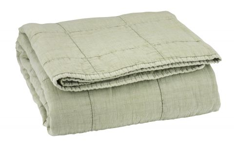 Quilted blanket VALMUE 130x180 green