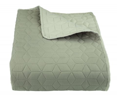 Bed throw ROSENTRE 240x260 green