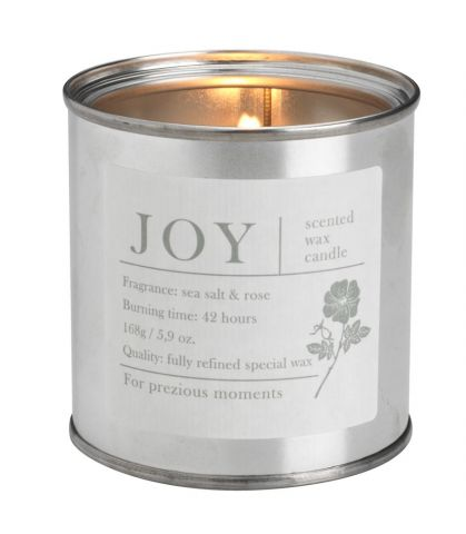 Scented candle JOY 7xH8cm in can