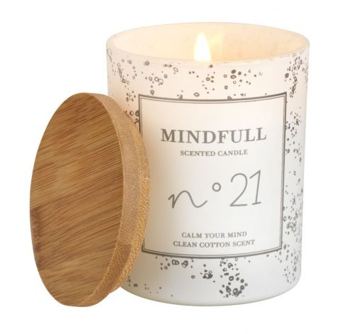 Candle ANTON D7xH8cm scented w/lid
