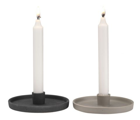 Candlestick MICHAEL 14x3cm assorted