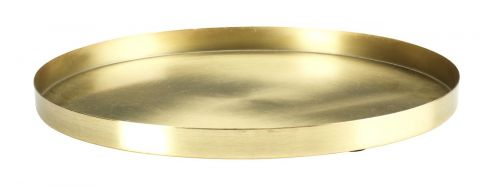 Decorative tray FRITS 30xH2cm brass