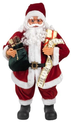 Santa Claus DASHER H80cm w/gifts