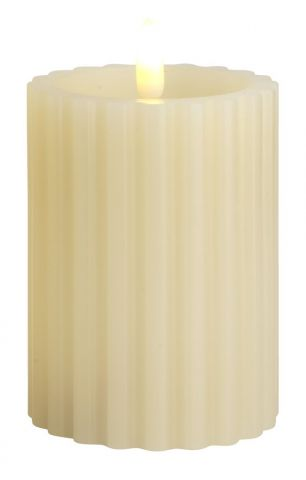 Candle ODEN D:8xH10cm white w/LED