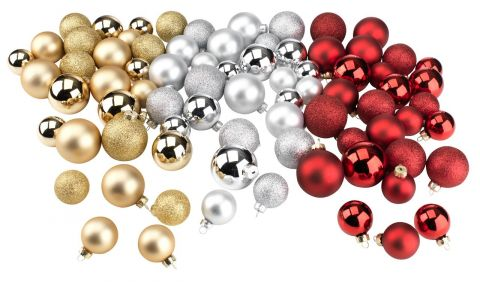 Christmas bauble AMMOLIT 26pcs/pk