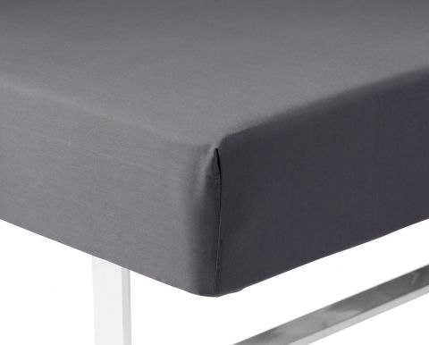 Fitted S KING 160x200x35cm Kr. grey