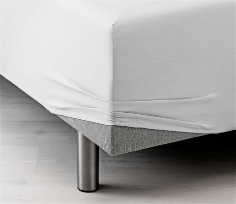 Sateen Fitted sheet 90x200x35cm white