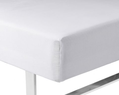 Sateen Fitted sheet 140x200x35 white