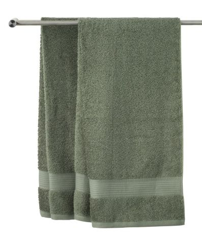 Bath towel KARLSTAD army green KRONBORG