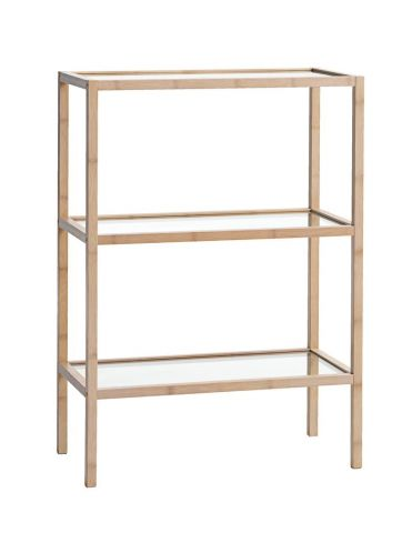Shelving unit BRANDE 3 shelves bamboo