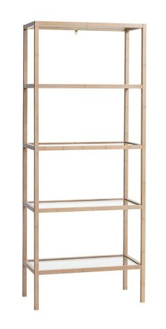 Shelving unit BRANDE 5 shelves bamboo
