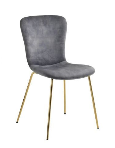 Dining chair EJERSLEV velvet/gold