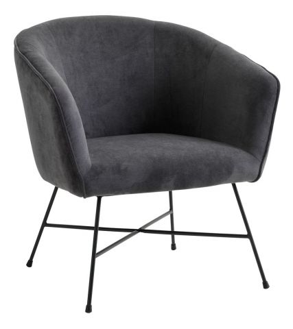Armchair FAUSING antracit grey