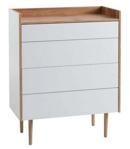 4 drawer chest AARUP white/oak
