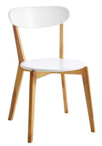 Dining chair JEGIND white/natural