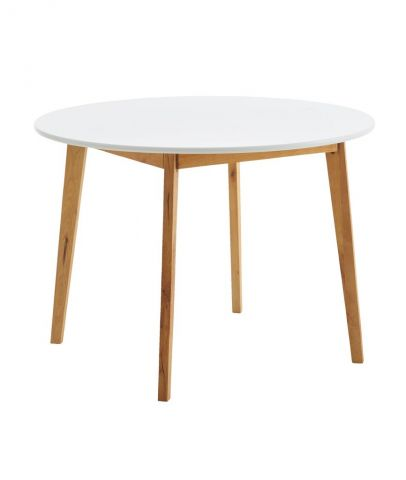 Dining table JEGIND o105 white/natural