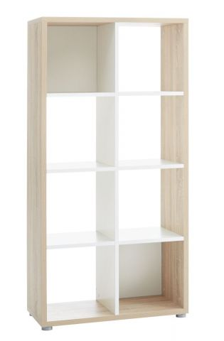 Room divider HALDAGER oak/white 8 sh.