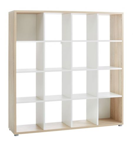 Room divider HALDAGER oak/white 16 sh.