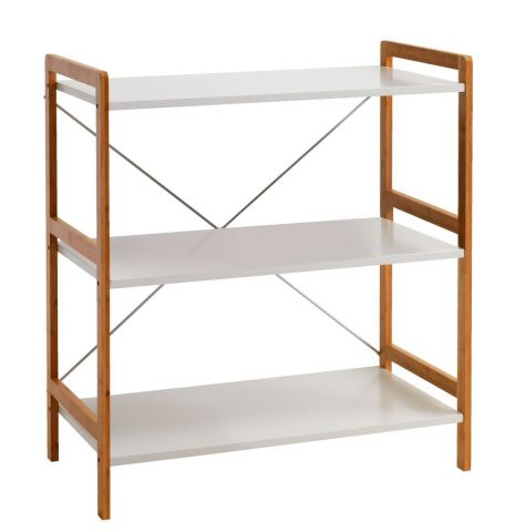 Shelving unit BROBY 3 shel. bamboo/white