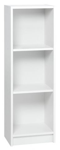 Bookcase HORSENS 3 shelves slim white