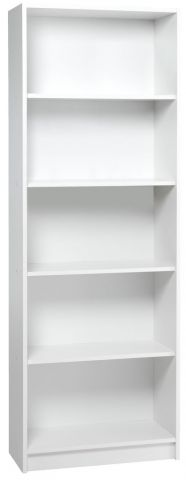 Bookcase HORSENS 5 shelves white