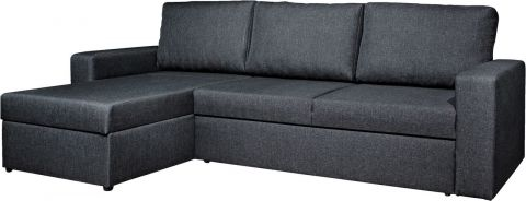 Sofa bed chaiselongue VILS dark grey