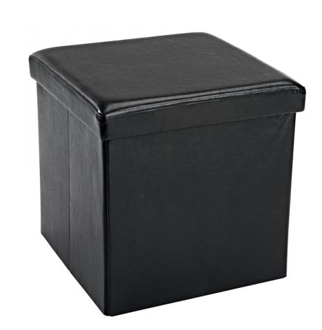 Pouffe HOLEBY w/storage black