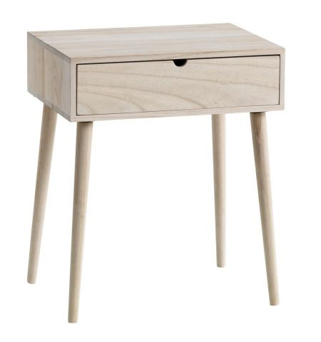 Bedside table ILBRO 1 drawer natural
