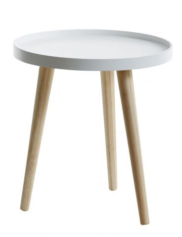 End table BAKKEBJERG 40cm white/natural