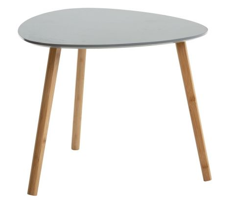 End table TAPS 55x55 grey/bamboo
