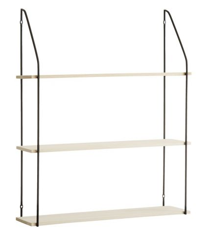 Wall shelf HEJLSMINDE 65x20 high Black/natural
