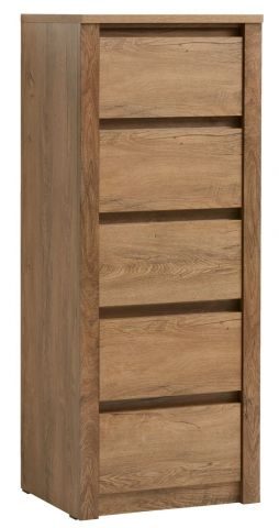 VEDDE 5 drawer chest wild oak