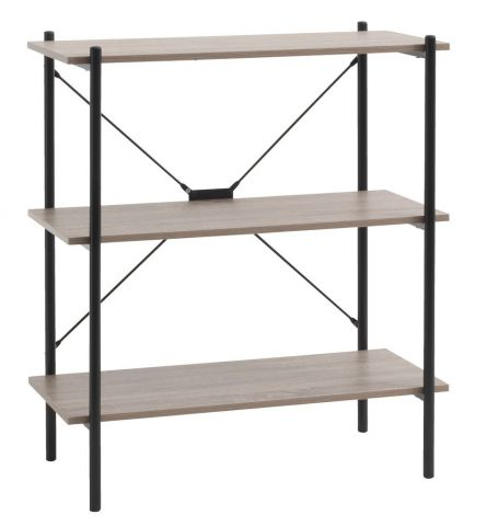 Shelving unit VANDBORG 3shel. oak/black