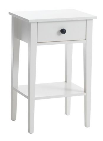 Bedside table NORDBY 1 drawer white