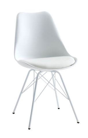 Dining chair KLARUP white/white