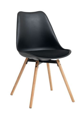 !Dining chair KASTRUP black/oak