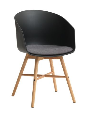 Dining chair FAVRBJERG black/oak