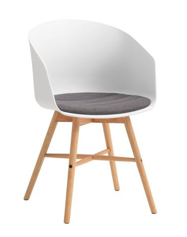 Dining chair FAVRBJERG white/oak