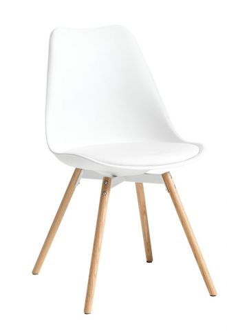 Dining chair KASTRUP white/oak