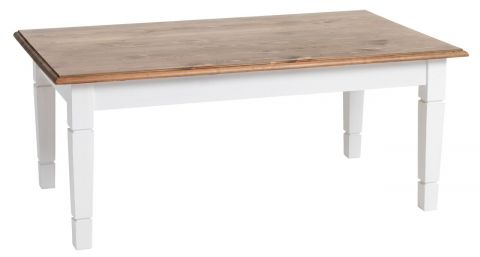 ..Coffee table RYSLINGE 65x110 white/brown