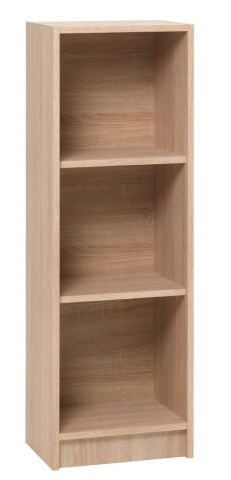 Bookcase HORSENS 3 shelves slim oak