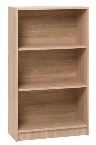 Bookcase HORSENS 3 shelves wide oak
