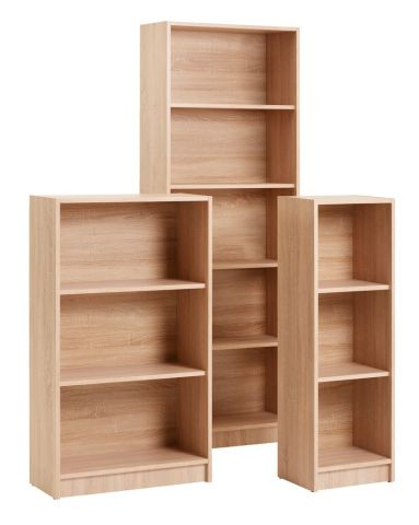 Bookcase HORSENS 5 shelves oak