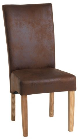 Dining chair BORUP brown/ash