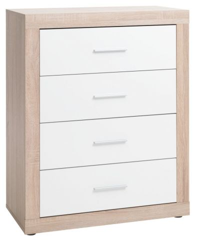 !FAVRBO 4 drawer chest oak/white